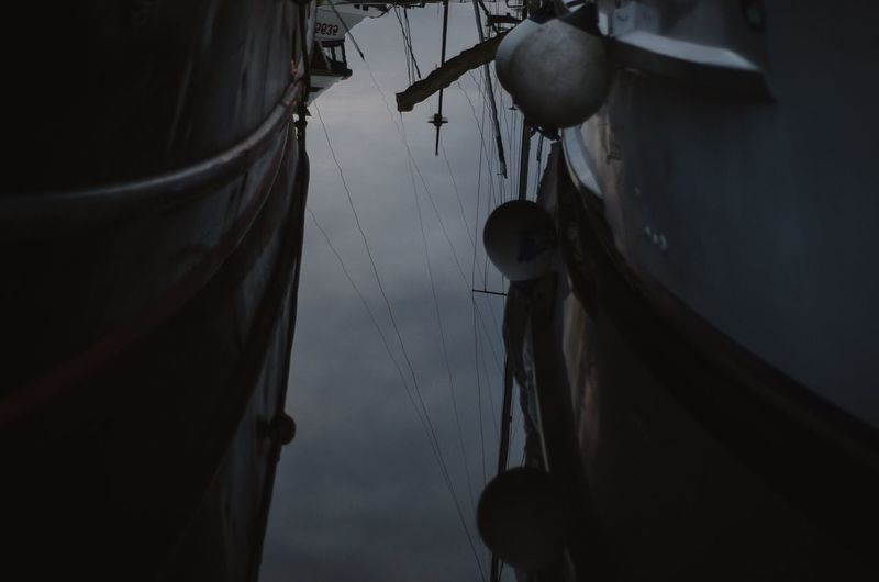 Close-up of fishing boat in water