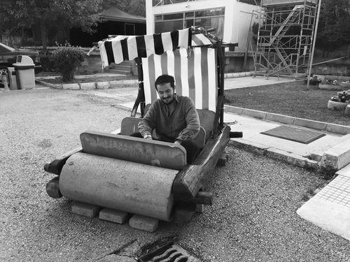Stoneage Fred Car Yabadabaduuuu Enjoying Life