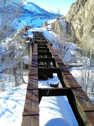 EyeEm Kazakhstan Bridge River Nature No People Mountain Range Winter Alatau Snow