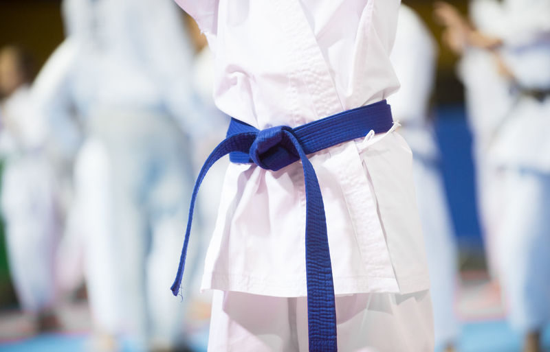 Karate Midsection Focus On Foreground Clothing Event Celebration Day White Color Standing Selective Focus Incidental People Adult Wedding Life Events Rear View Women Ceremony People Outdoors Uniform