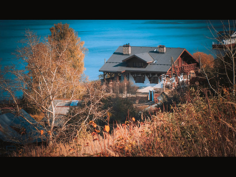 Beauty In Nature Blue House Lonely House Nature Peaceful Peasefull Place Russia