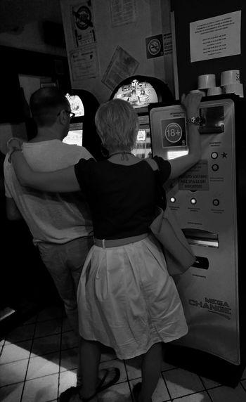 Real People Black & White Gambling Addiction Slot Machine