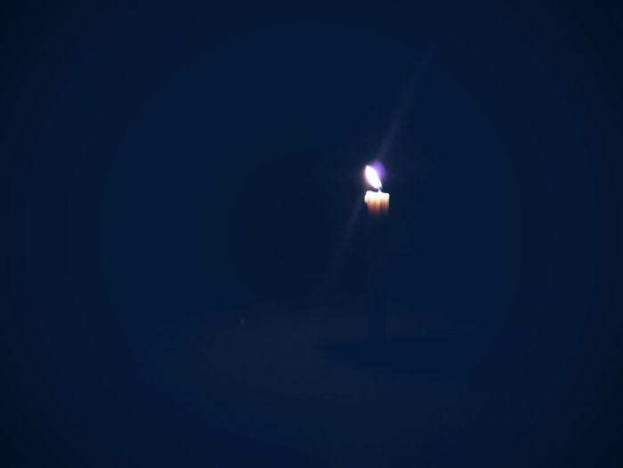 View of illuminated dark room