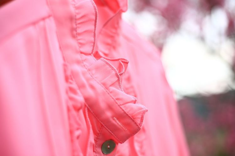 Dark Pink by Motorola EyeEmNewHere Fine Art Photography Hello World Millennial Pink Romantic Taking Photos Textured  Abstract Blouse Clothing Dress Fashion Focus On Foreground Material No People Outdoors Pastel Pattern Pink Color Red Selective Focus Simplicity Textile Warm Clothing