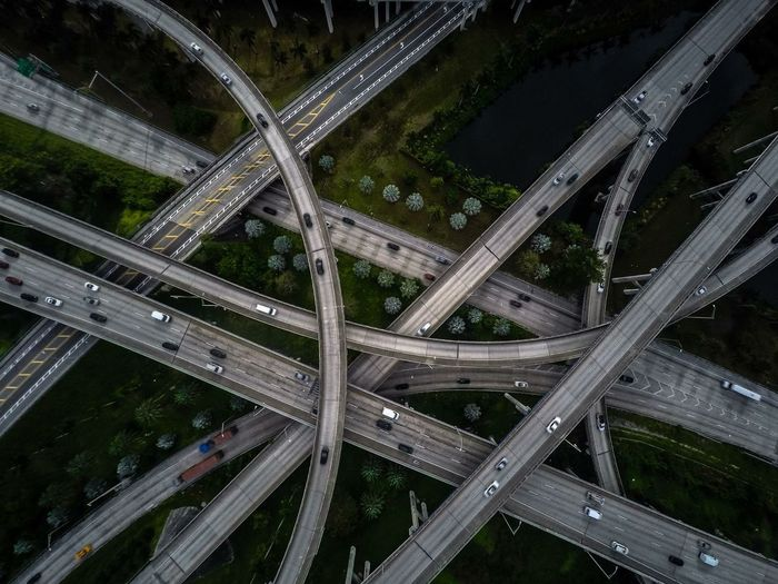 Transportation Illuminated High Angle View Highway Aerial View Night Traffic Car Mode Of Transport Road Land Vehicle No People Connection Outdoors Airplane