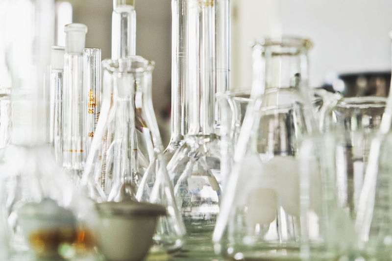 Laboratory glassware Science Science Lab Science And Technology Scientist Biology Biology Class Bottle Chemical Close-up Day Glassware Indoors  Lab Laboratory Laboratory Equipment Laboratory Experiments Laboratory Glassware Large Group Of Objects No People Science Class Science Fiction Scientific Experiment
