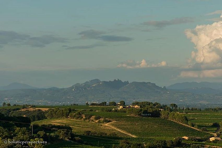 View over Provence from Chateauneufdupape