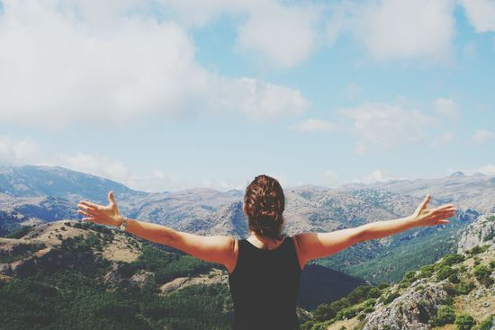 Free like a bird Sierra De Las Nieves SPAIN Arms Raised One Woman Only Outdoors Nature Day Enjoying Life Viewpoint Arms Outstretched Sony A6000 Beatiful Landscape I Believe I Can Fly