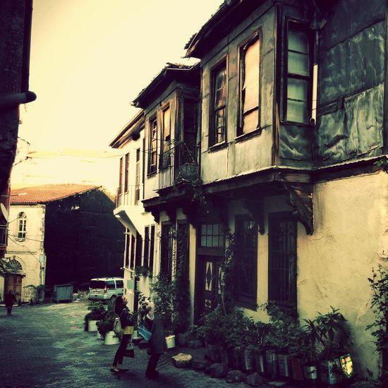 Beautiful Street Houses Taking Photos Eski Jumbalı Evler