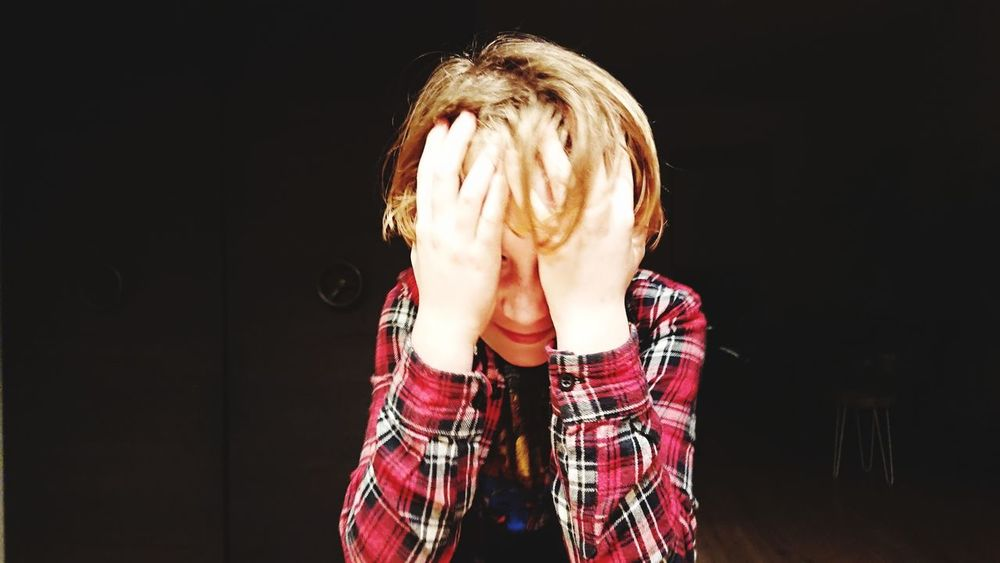 One Person Human Body Part Depression - Sadness Embarrassment People Horror Front View Hiding Young Adult Blond Hair Human Face