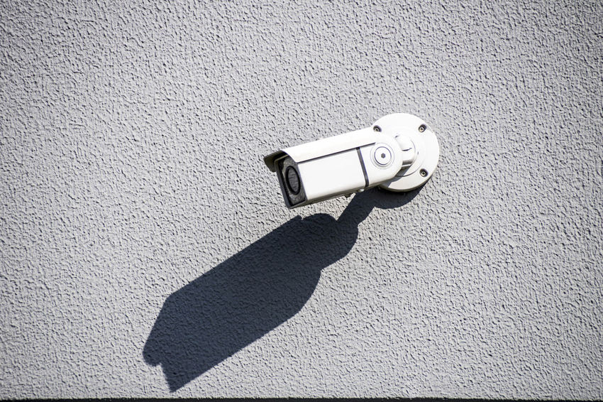 Surveillance camera on building safety in Hamburg Electronic Surveillance Camera Cctv Camera Control Danger Protect Safety Security Technology Video Video Shoot