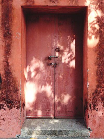 A closed door in confucius temple