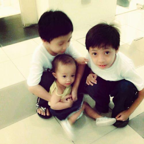 Kids Taking Photos Siblings Hello World