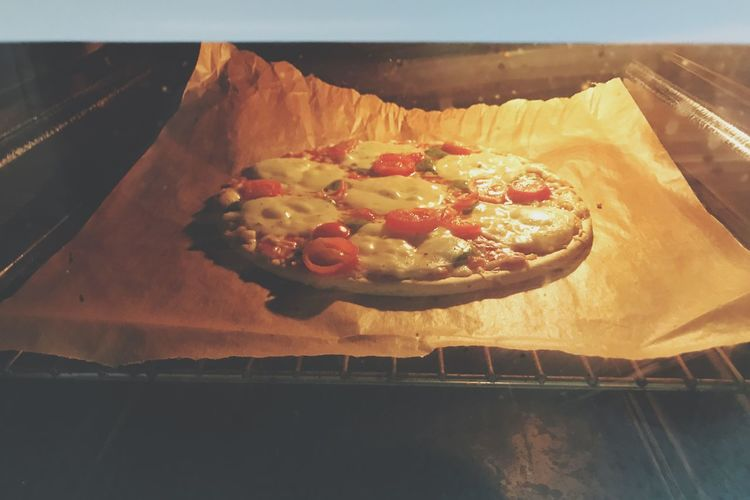 Baking Pizza Baking Pizza Oven Food Food And Drink Freshness Ready-to-eat Indulgence Baked No People Unhealthy Eating
