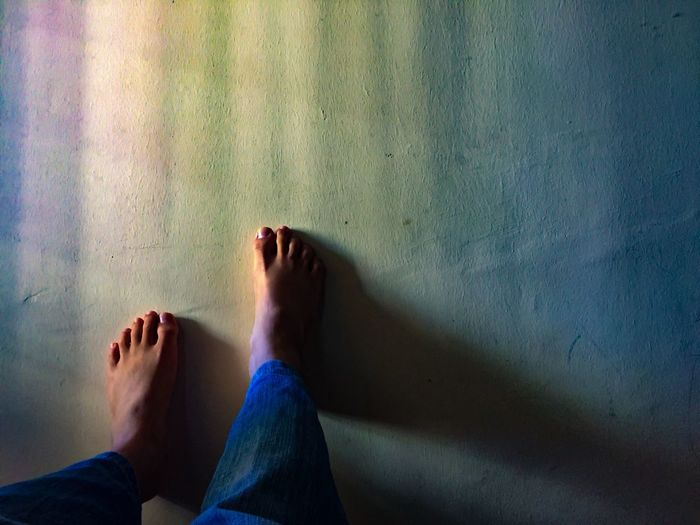 Low Section Human Leg One Person Real People Human Body Part Human Foot Barefoot Shadow Indoors  Lifestyles Day Close-up The Still Life Photographer - 2018 EyeEm Awards Capture Tomorrow
