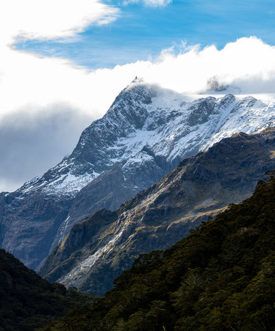 Routeburn hike Queenstown New Zealand Routeburn Track Hike Mountain Snow Scenics - Nature Cold Temperature Environment Beauty In Nature Winter Nature Mountain Peak Landscape Mountain Range Cloud - Sky Land No People Travel Snowcapped Mountain Ice Sky Travel Destinations Outdoors