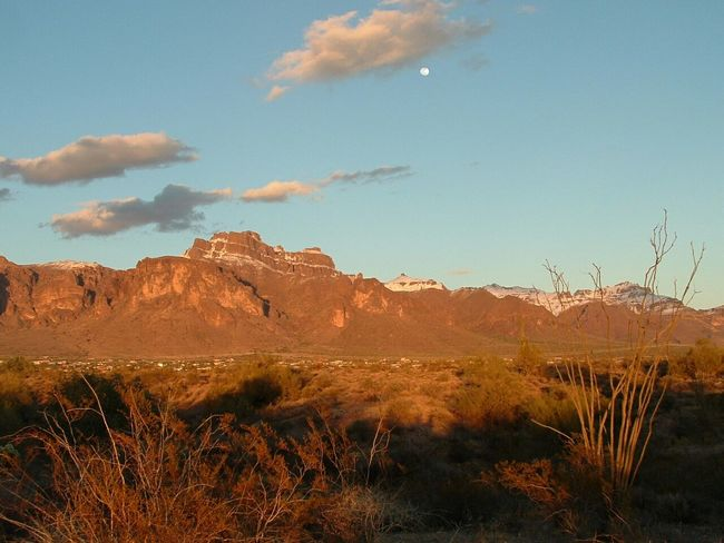 Superstition Mountains Desert Snow Apache Junction Arizona Seeing The Sights The Great Outdoors With Adobe Still Life