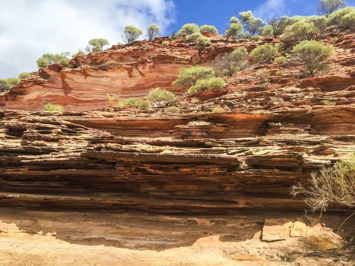 Layered Sandstone Cliff Bluff Sandstone Cliffs Red Rock Nature Textures Layered Rock Colors Of Nature Nature Photography Nature Kalbarri Australia Nature's Design Western Australia The Great Outdoors With Adobe Travel Photography Sandstone Geological Sandstone Bluffs Rocky Land Landscape Stone Connected With Nature