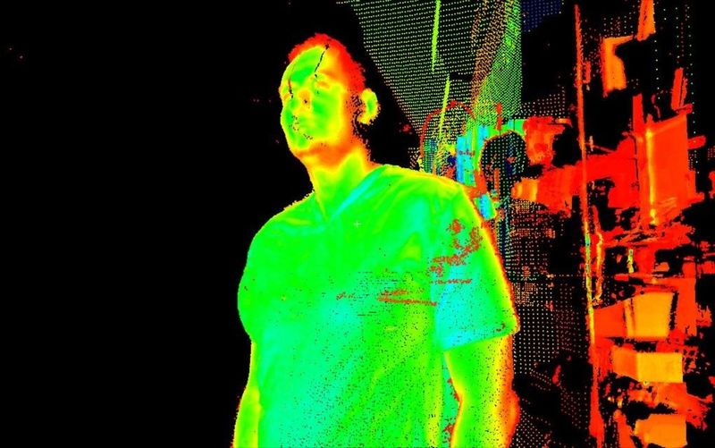 Getting Creative done with a Leica laser scanner That's Me