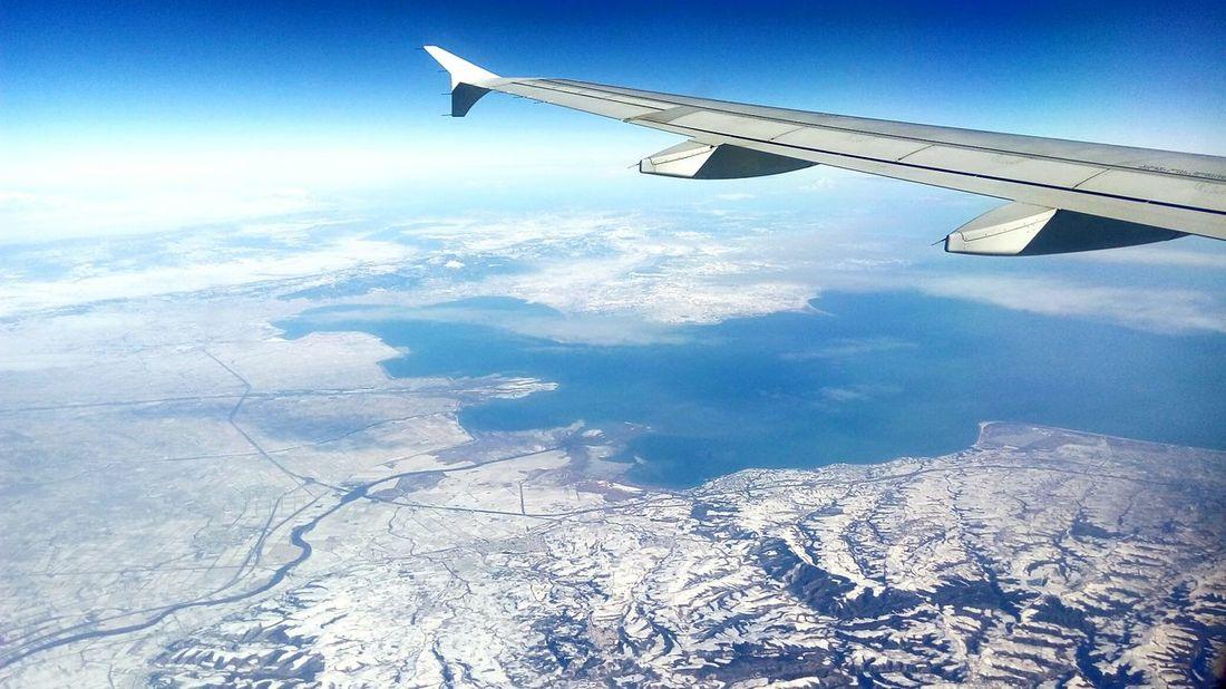 Airplane Aerial View Greece Snow Aegean Aegansea