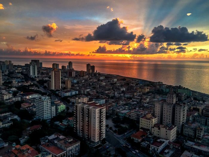 Havana sunset Sunset Sky Skyscraper Cityscape Architecture Travel Destinations Cloud - Sky