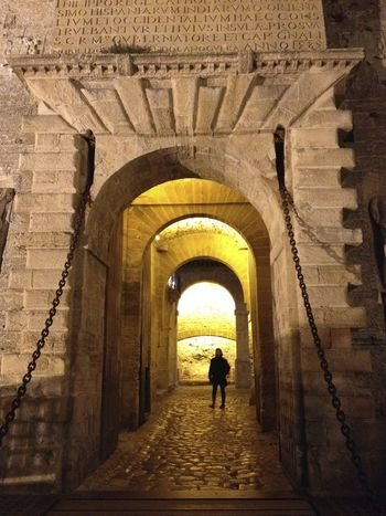 Dalt Vila World Heritage Site Light And Shadow Night Lights UNESCO World Heritage Site Picturing Individuality Single Figure In The Light Mysterious Pattern Pieces
