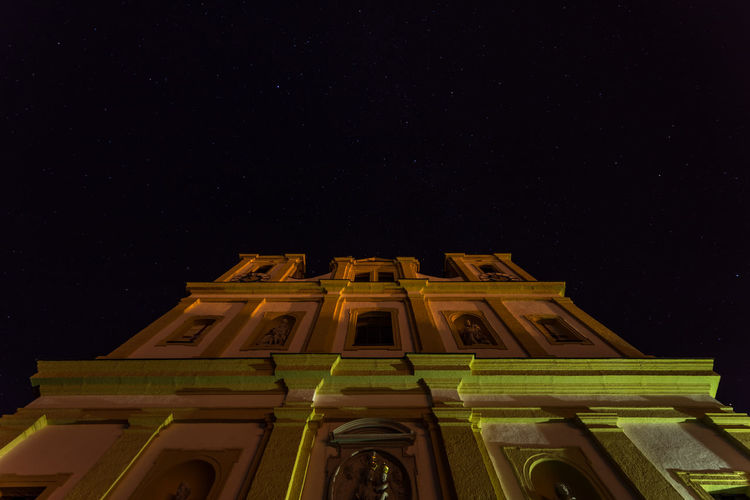 Low Angle View Of Basilika Maria Plain Against Star Field