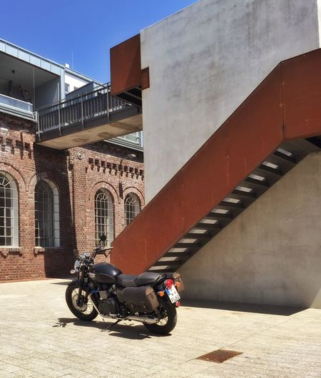 Bonneville Building Exterior Classic Bike Loft Modern Railing Steps And Staircases Triumph Motorcycle