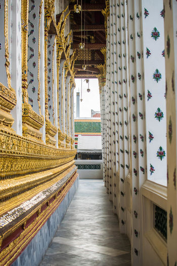 Bangkok Architectural Column Architecture Built Structure Day Indoors  No People Place Of Worship The Way Forward Watarun