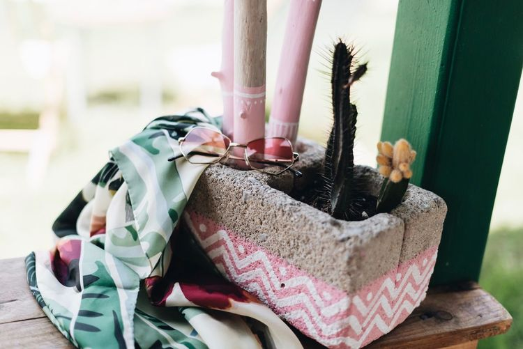 Fashion Indoors  Textile Domestic Room Still Life Nature Clothing Container Ribbon Home Art And Craft Creativity Wood - Material Floral Pattern