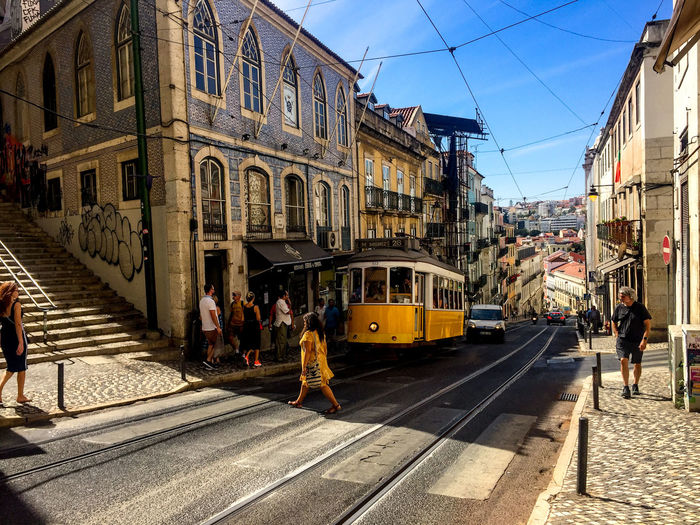 Architecture Rail Transportation Built Structure Building Exterior Transportation Railroad Track Mode Of Transportation Track Public Transportation Cable Car Group Of People City Sky Street Real People Nature Adult Women Day Building Outdoors 17.62°