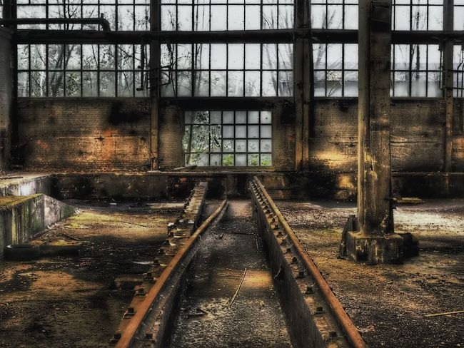 Deadline Abandoned & Derelict Abandoned Places Urbex Urbexphotography Urbexexplorer Olympus Neglected Derelict & Abandoned Water Sky Architecture Metal Grate Railroad Track Rail Transportation Railway Track Train Track