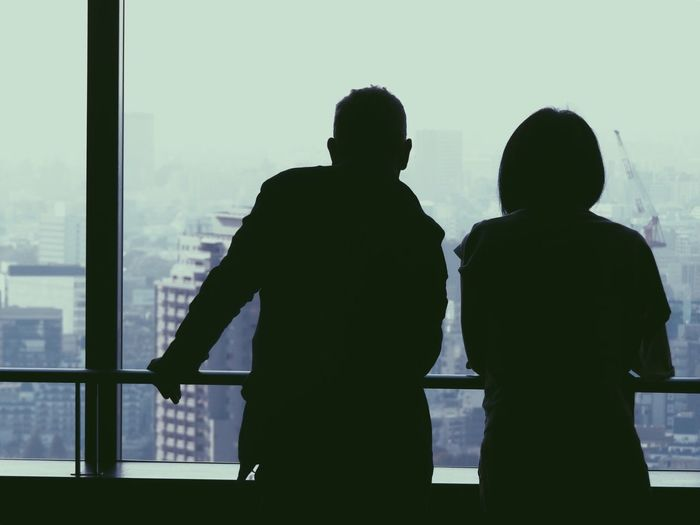 Woman No Standard World cityscapes Man And Woman Tokyo Street Photography Men Window Silhouette Indoors  Togetherness