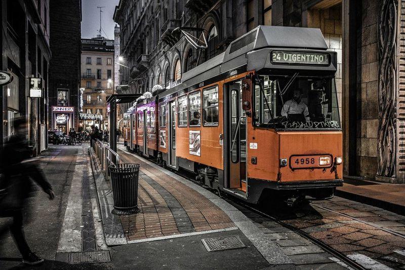 City Transportation Travel Travel Destinations Built Structure Architecture Outdoors Public Transportation No People Sky Day Tram Train Milan
