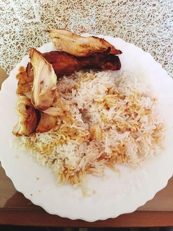 Mon déjeuner Déjeuner Faim  Poulet Riz Sauce Soja