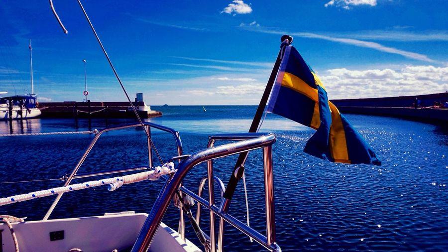 Say welcome to Swedish summer ⚓️💙🇸🇪 Followmeto Sweden Landskrona Borstahusen Enjoying The Sun Going Sailing Relaxing First Eyeem Photo Objektifimden Benimkadrajim