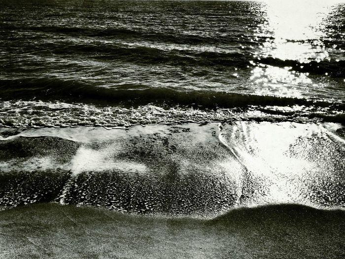 Taking Photos Sea Wave Blackandwhite