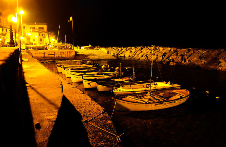 Boat Boats Harbor Italia Italy Light And Shadow Liguria Night Night Photography Night View Nightphotography Nightshot Reflection Romantic Sailboat Sailing Sea Waterfront Traveling Travel Travelling Atmosphere Showcase: November Monochrome Shades Of Gold