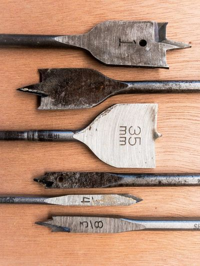 Close-Up Of Tools On Table