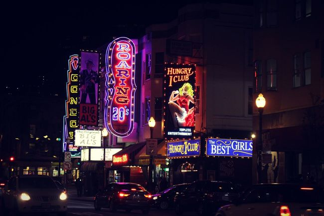 Night walks in SF Illuminated Nightlife Night City Life City Street Travel Destinations Neon Building Exterior Arts Culture And Entertainment City Travel Outdoors Built Structure People San Francisco Bay Area California United States Cityscape City Streetphotography