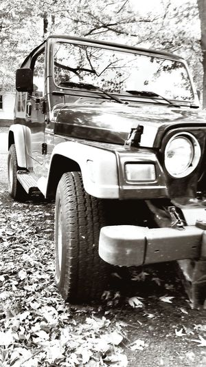 Jeep ♡ Black & White Jeep Jeep Life Wrangler Autumn Love It Favoritethings Leaves Blackandwhite Wheels