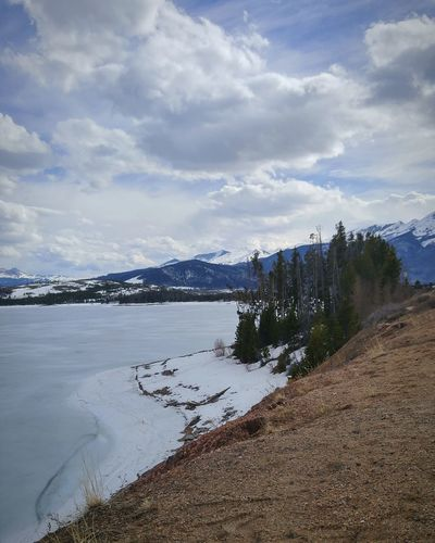 Sky Nature Outdoors Water Landscape Beauty In Nature Colorado Colorado Photography Cold Temperature Beauty In Nature Simple Things In Life Tranquility Lovetotravel Travel Beauty Snow Winter Mountain Coloradophotographer