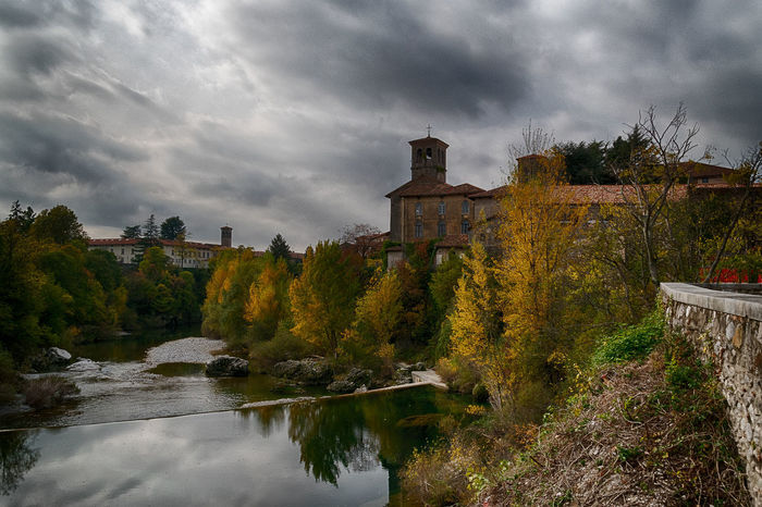 Partial view of Cividale from the river - HDR Church HDR Monastery Panoramic Trees Autumn Chiesa Cloud - Sky Day Fiume Hdrphotography Monastero No People Outdoors Palace River