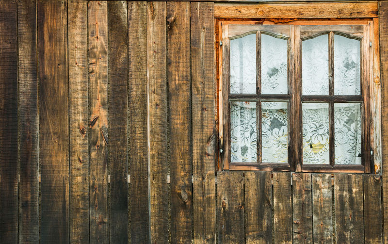 old wooden window in an old wooden house. Abandoned Architecture Backgrounds Built Structure Close-up Damaged Day Full Frame Glass - Material House Indoors  No People Old Pattern Textured  Wall - Building Feature Weathered Window Window Frame Wood Wood - Material Wood Grain