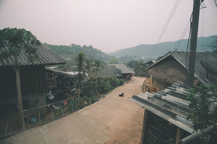 First morning during our mission trip to one of the mountain villages in Chiang Khong, Thailand. Day Fog House Landscape Morning Mountain Mountain View Nature No People Outdoors Roof Tranquil Scene Village Village Life