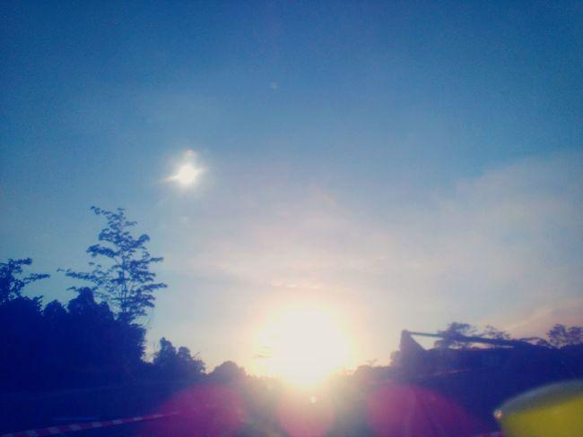 When sun going down