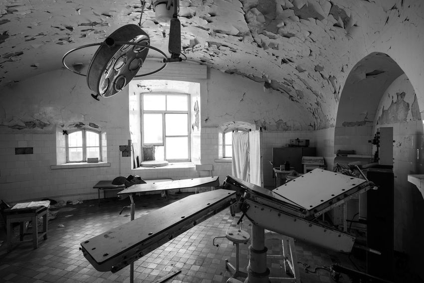 The stuff of nightmares Abandoned Abandoned & Derelict Abandoned Buildings Abandoned Places B&w Black And White Blackandwhite Creepy Deterioration Empty Estonia Europe Hospital Interior Medical Mono Monochrome No People Patarei Prison Run-down Scary Tallinn