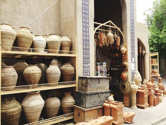 Pottery art shop in Nizwa, Oman Pottery Art Pottery Nizwa Nizwa Fort Oman Handmade Oman_photography Fort Trunk Arch Arabic Style Arab World Arabic Culture Arabic Art Arabic Architecture