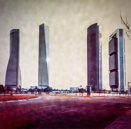 Four Towers Business Area. Madrid 2015. Diego López Calvín solarigrafia solargraph solarigraphy sky long exposure solargraphy Infrared Mars Solarigrafia Solarigraphy Sky Long Exposure Infrared Marte