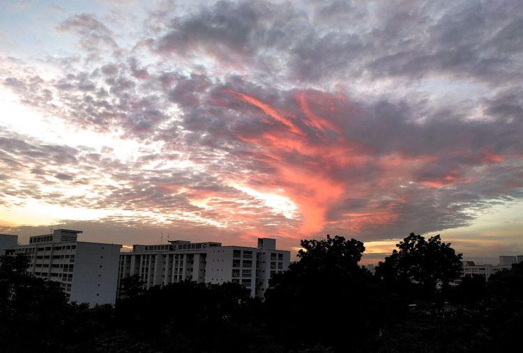 Sky, clouds,